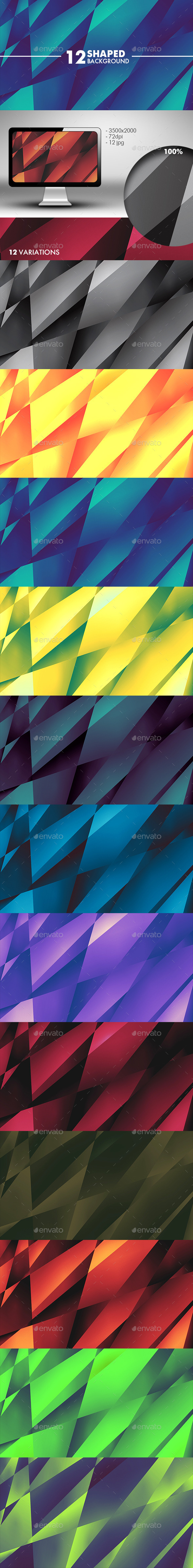 GraphicRiver Shaped Background 10854140