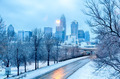 charlotte north carolina city after snowstorm and ice rain - PhotoDune Item for Sale