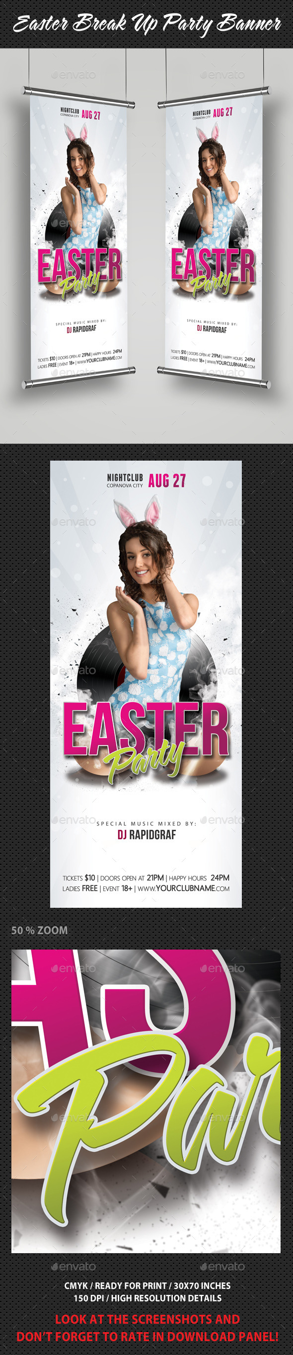 GraphicRiver Easter Break Up Party Banner 10787476