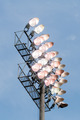 Stadium lights turn on at twilight time - PhotoDune Item for Sale