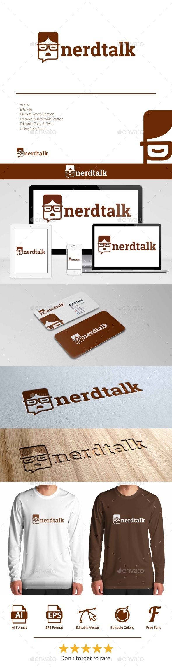 GraphicRiver Nerd Talk Logo 10854627