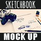 Sketchbook Mock Up - GraphicRiver Item for Sale