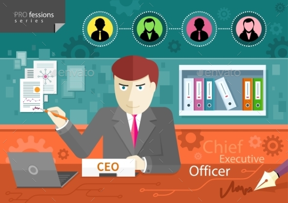 GraphicRiver Chief Executive Officer 10854881