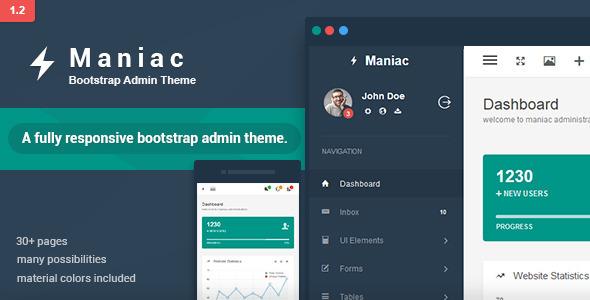 Maniac - Bootstrap Admin Theme
