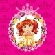 Princess in Flower Frame