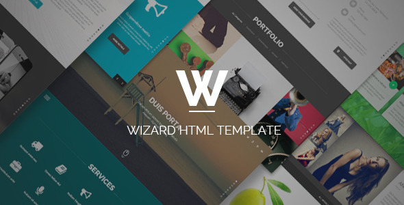 ThemeForest Wizard Fullpage Portfolio HTML Template 10855589