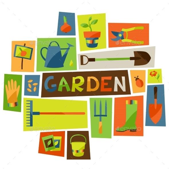 GraphicRiver Garden Elements 10855597