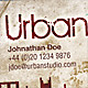 Urban Studio Grunge Business Card - GraphicRiver Item for Sale