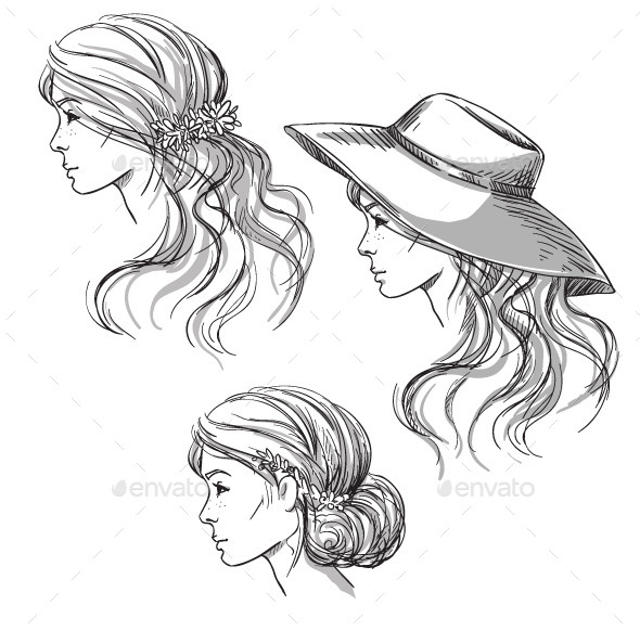 GraphicRiver Different Hairstyles 10855657