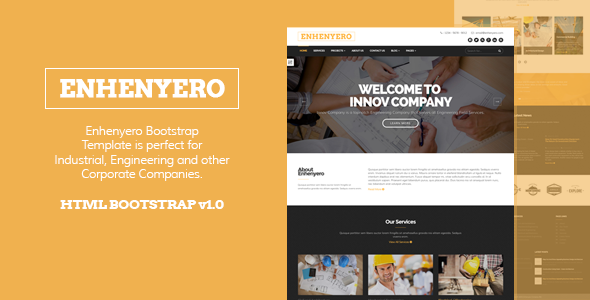 ThemeForest Enhenyero Engineering Industrial Theme 10816665