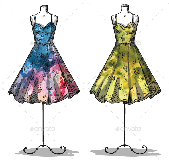 GraphicRiver Mannequins with Dresses 10855756