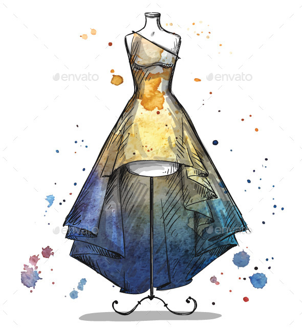 GraphicRiver Mannequin with a Dress 10855880