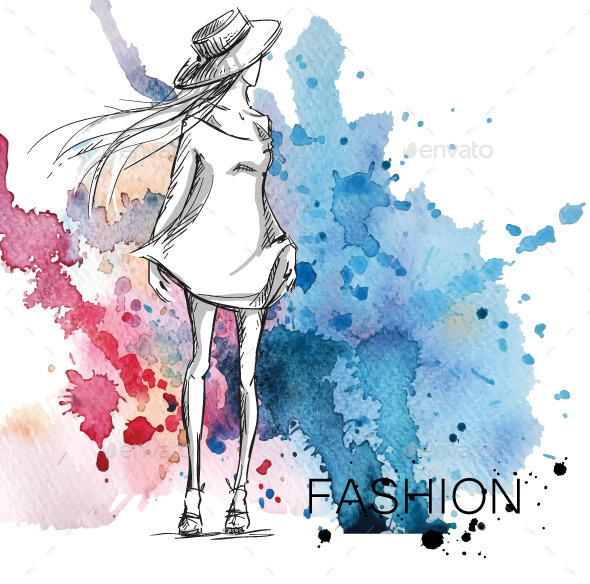 GraphicRiver Fashion Sketch 10855914