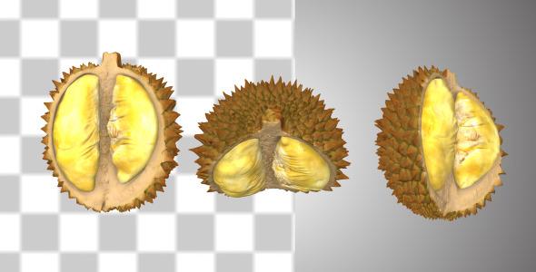 Peeled Durian