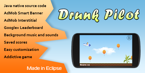 CodeCanyon Drunk Pilot with AdMob and Leaderboard 10856197