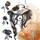 Girl in a Hat on a Watercolor Background - GraphicRiver Item for Sale