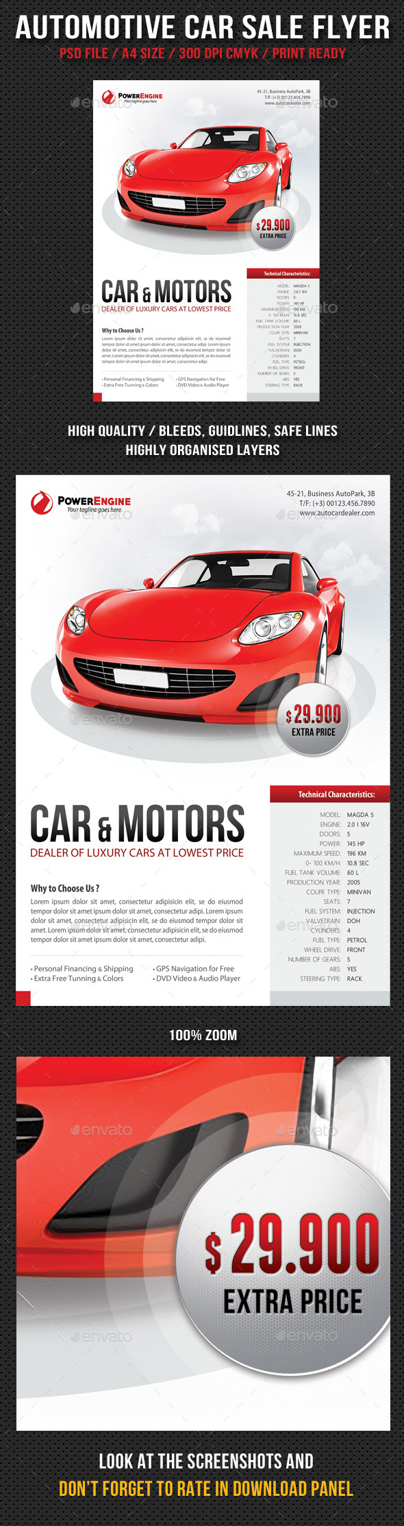 GraphicRiver Automotive Car Sale Rental Flyer 10794339