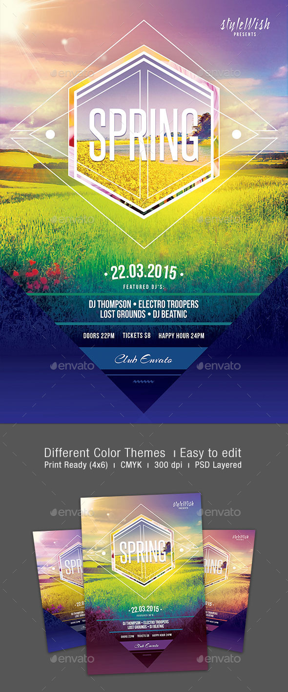 GraphicRiver Spring Flyer 10856476