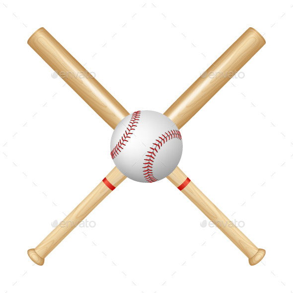 GraphicRiver Baseball Bats and Ball 10856477