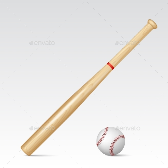 GraphicRiver Baseball Bat and Baseball 10856525