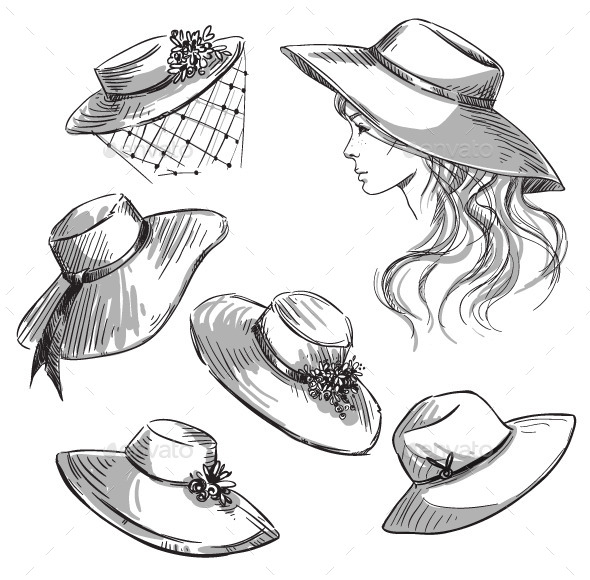 GraphicRiver Set of Hats 10856567