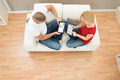 High View Of Couple With Digital Tablet - PhotoDune Item for Sale