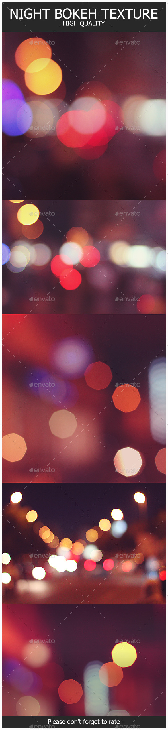 GraphicRiver 5 Night Bokeh Textures 10787349