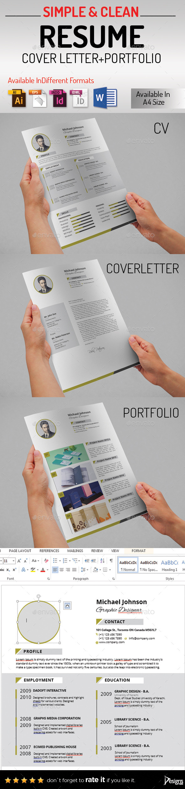 GraphicRiver Resume 10858709