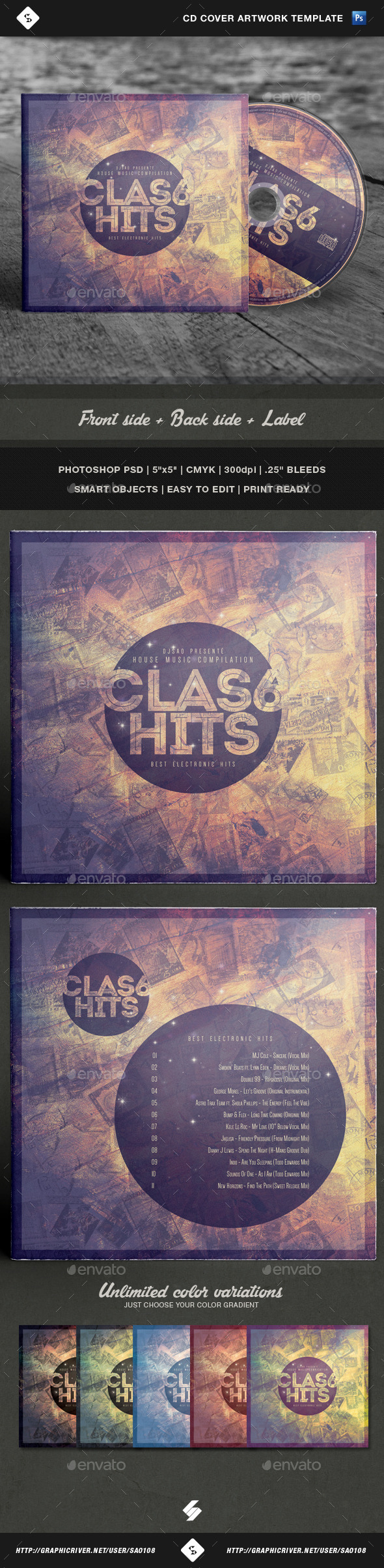 GraphicRiver Classix Hits CD Cover Artwork Template 10859029