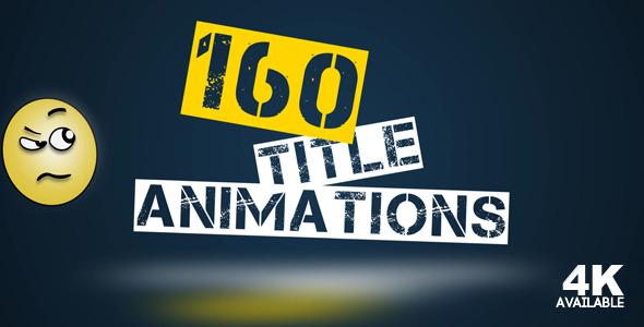 AE模板:160组简洁干净企业公司文字动画排版MG动画模板