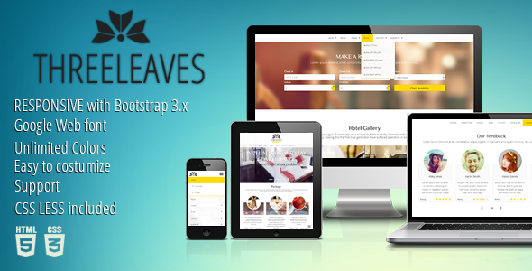 Threeleaves - Responsive Hotel Template