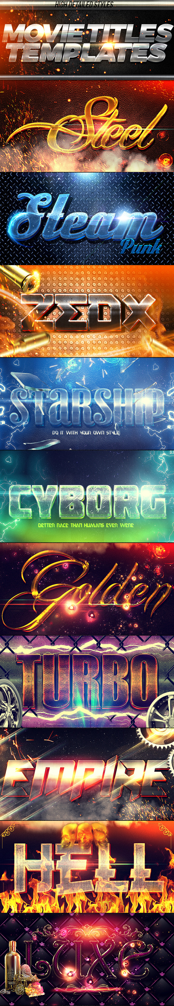 GraphicRiver Movie Titles PSD Template 10783976