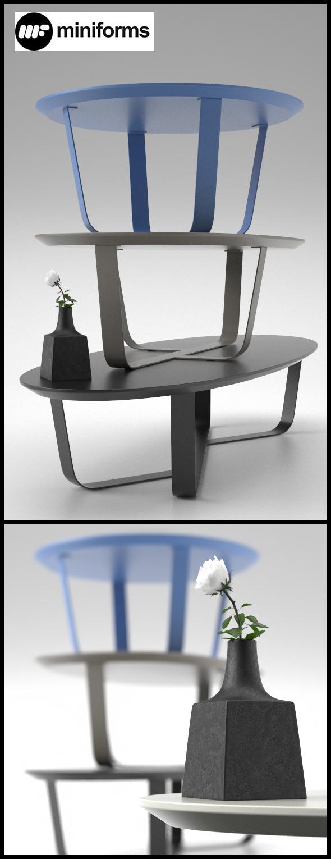 3DOcean 3 Table BINO by Miniforms 10859322