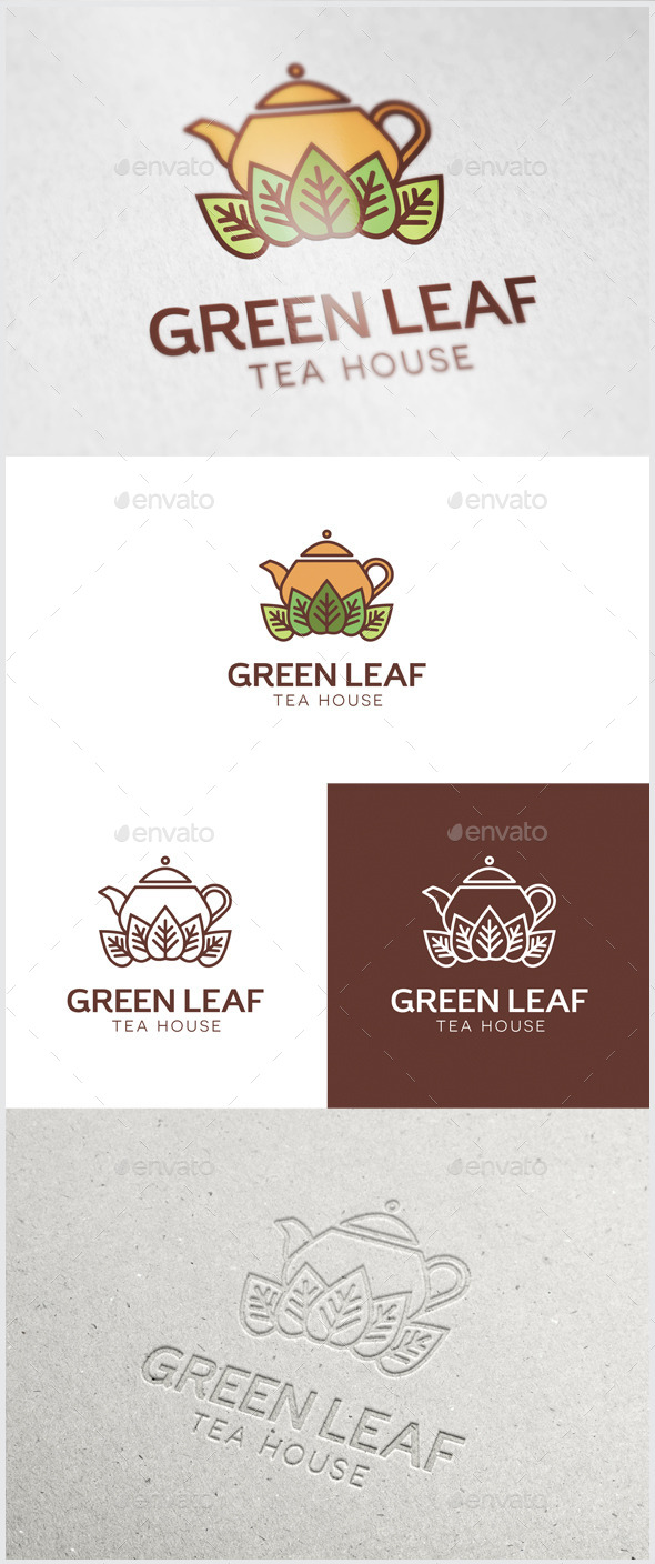 GraphicRiver Green Leaf Tea Logo 10859469