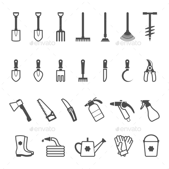 GraphicRiver Set of Garden Tools 10859522