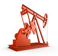 Red oil rig on isolated white background - PhotoDune Item for Sale