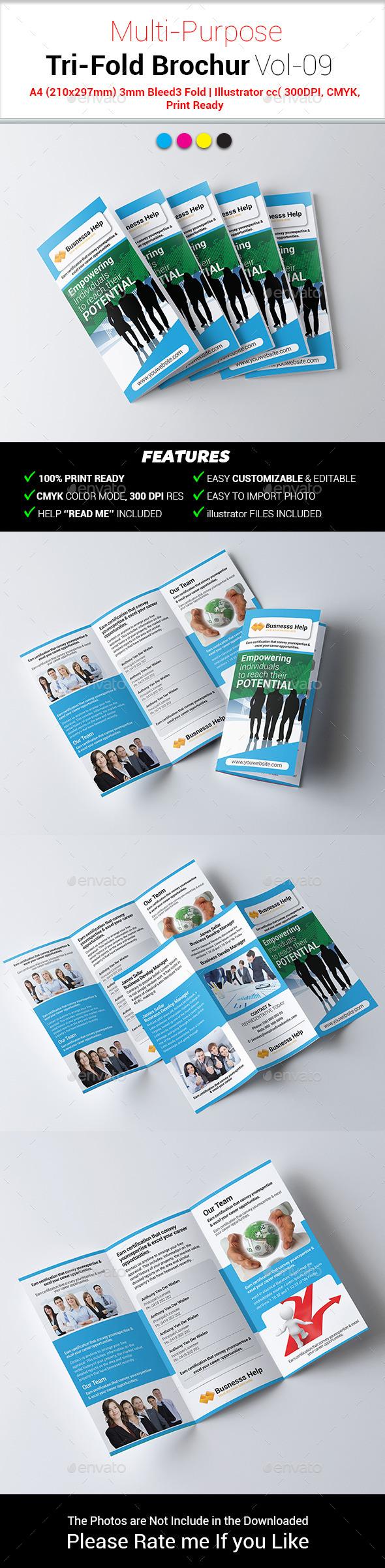 GraphicRiver Multipurpose Business Tri-Fold Brochure Vol-09 10859759