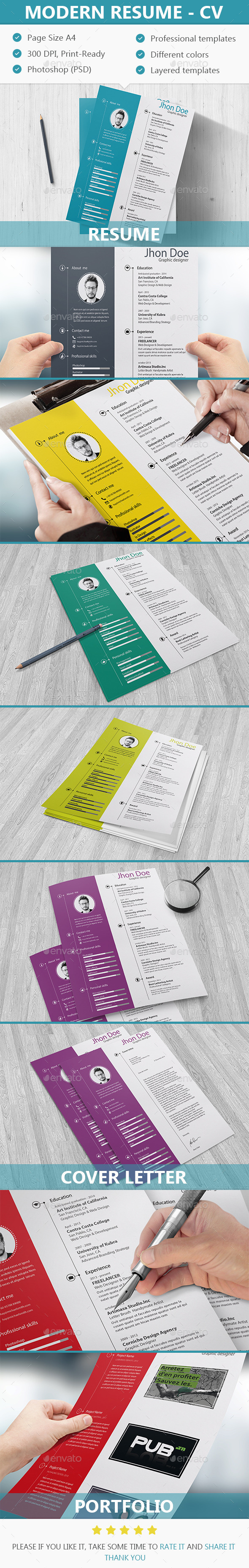 GraphicRiver Modern Resume CV 10859882
