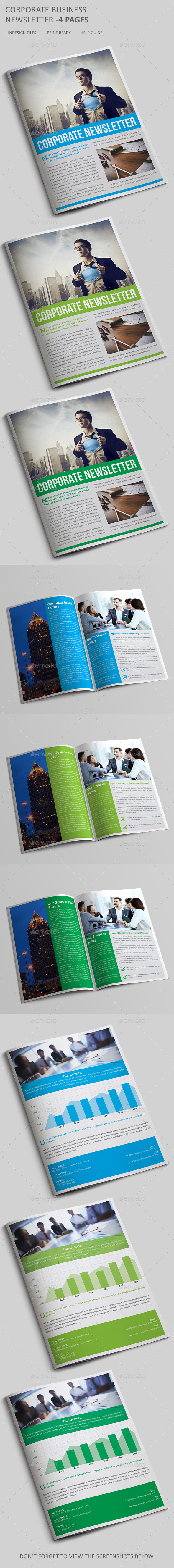 GraphicRiver Corporate Newsletter Template 4 Pages 10859889