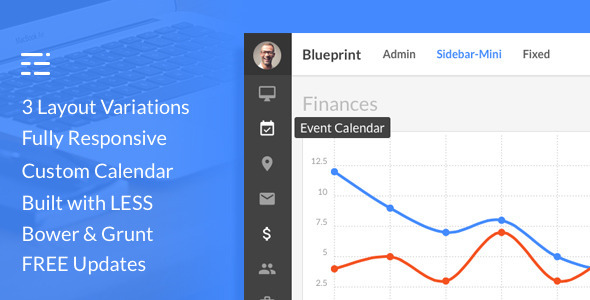 ThemeForest Blueprint Responsive Admin Dashboard Template 10860038