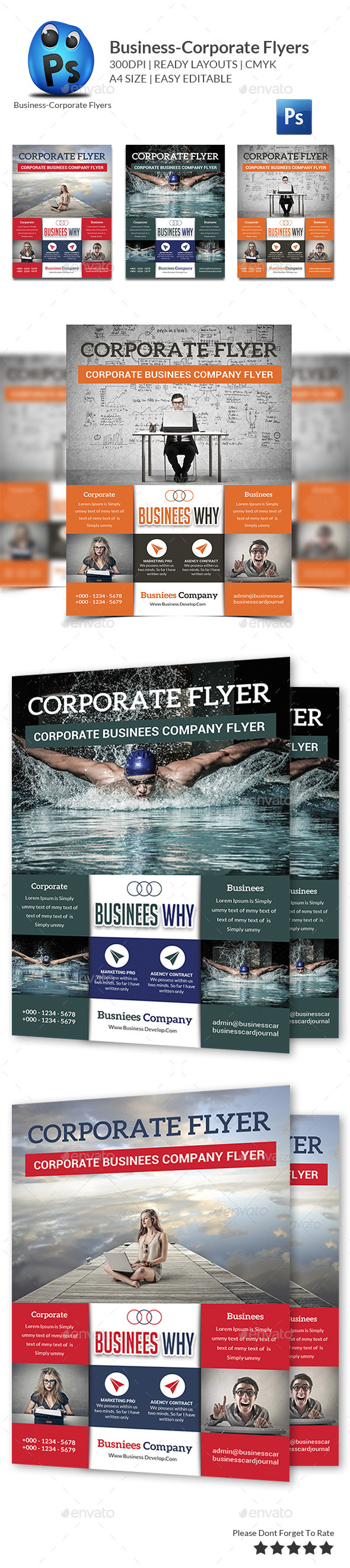 GraphicRiver Corporate Business Flyer Template 10860051
