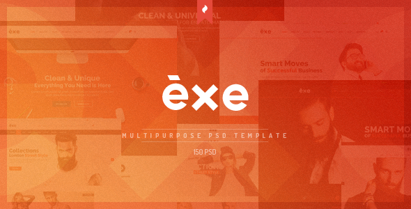 ThemeForest Exe Multipurpose PSD Template 10860100