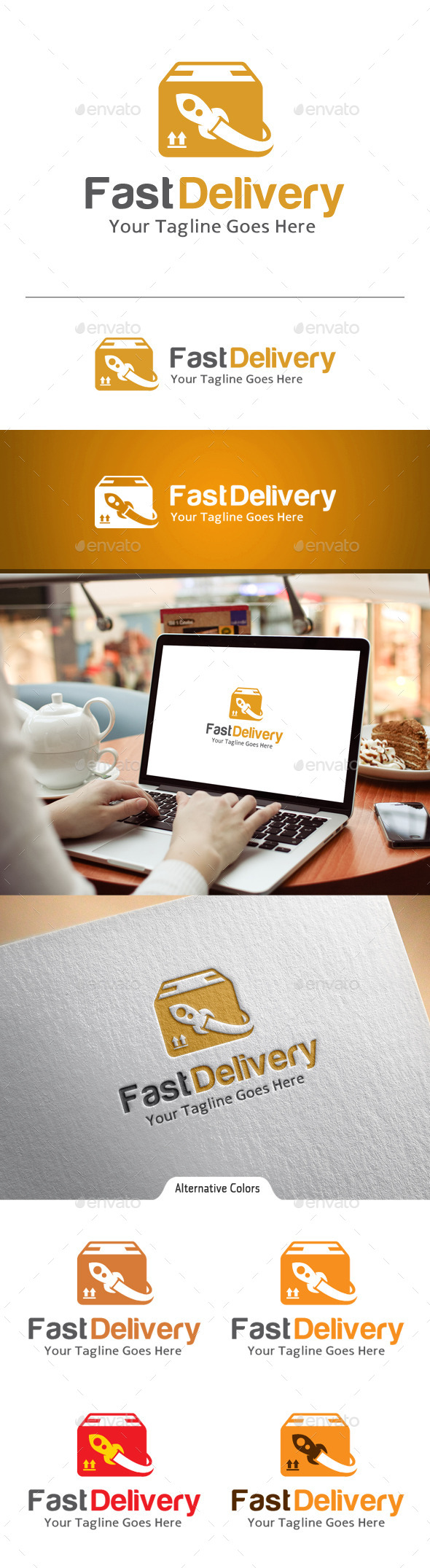 GraphicRiver Fast Delivery Logo 10860271