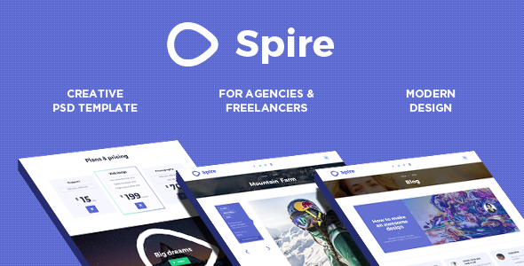ThemeForest Spire I Creative Agency PSD Theme 10860285