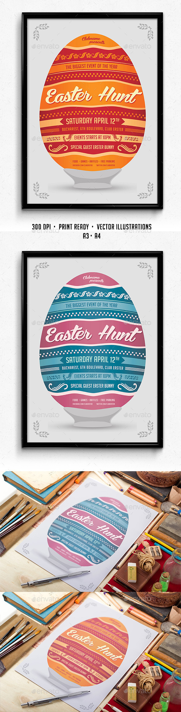 GraphicRiver Easter Hunt Poster 10860288