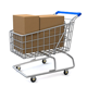 Shopping Cart with Boxes - VideoHive Item for Sale