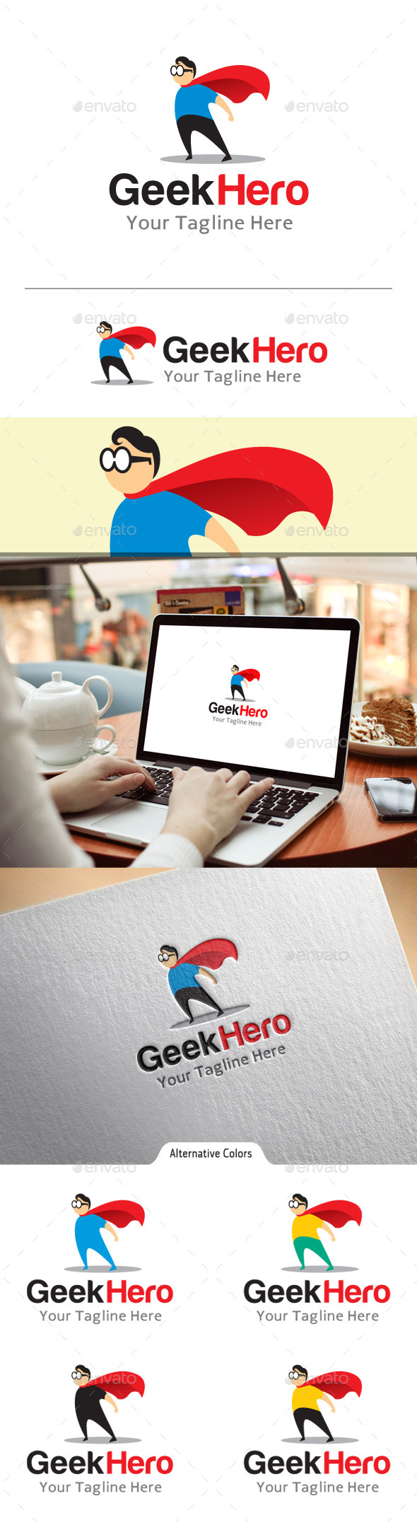 GraphicRiver Geek Hero Logo 10860358