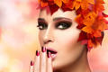 Fall Fashion Makeup and Nail Art Trend. Beauty Fashion - PhotoDune Item for Sale
