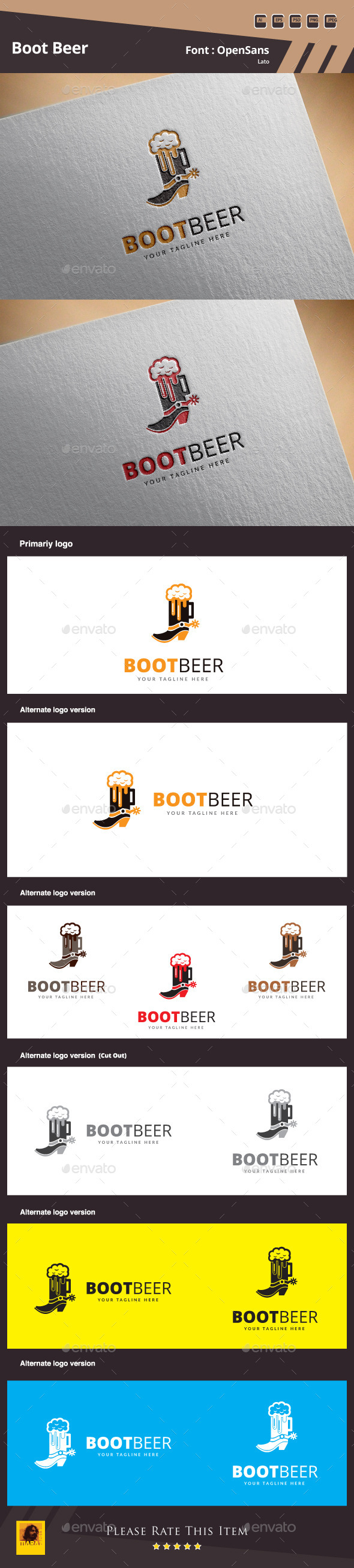 GraphicRiver Boot Beer Logo Template 10860664