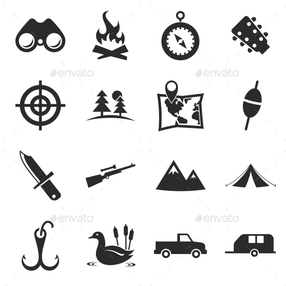 GraphicRiver Hunting Icons 10860939